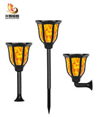 Latest 3 in one Solar Flame Light (Wall Light/ Spiker/ Pillar Light) JG-Flame